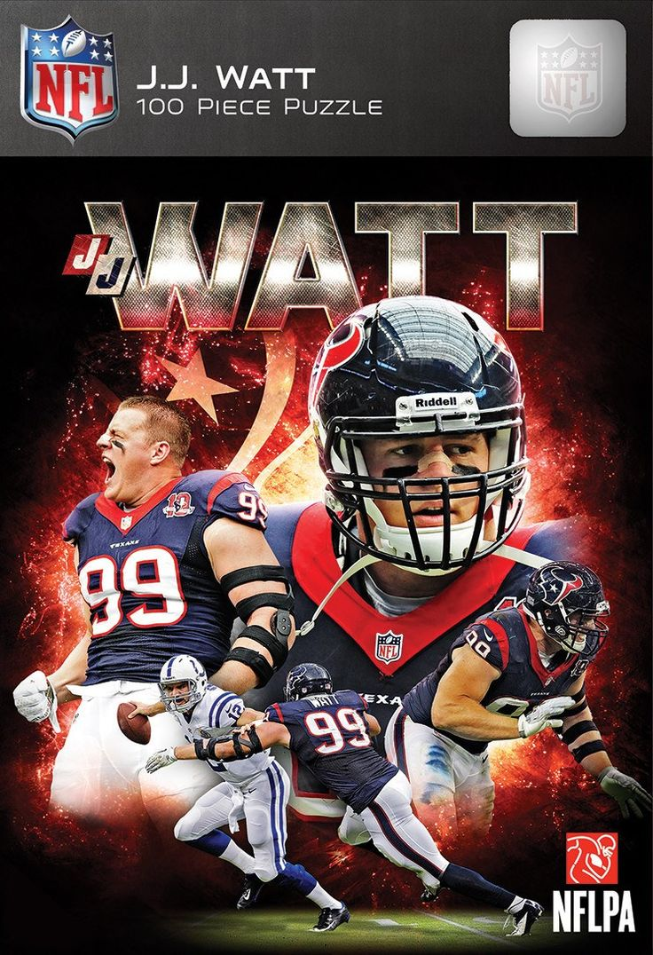NFL Houston Texans - J.J. Watt - 100 Piece Jigsaw Puzzle