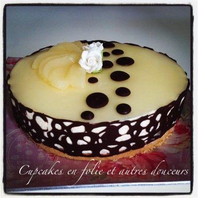 Bavarois poire/vanille (sans cuisson)