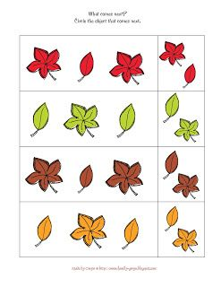 Preschool Printables: Autumn