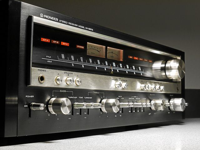 """Pioneer - SX 5570 ,Vintage Audiophile Stereo Receiver"" !...  http://about.me/Samissomar"
