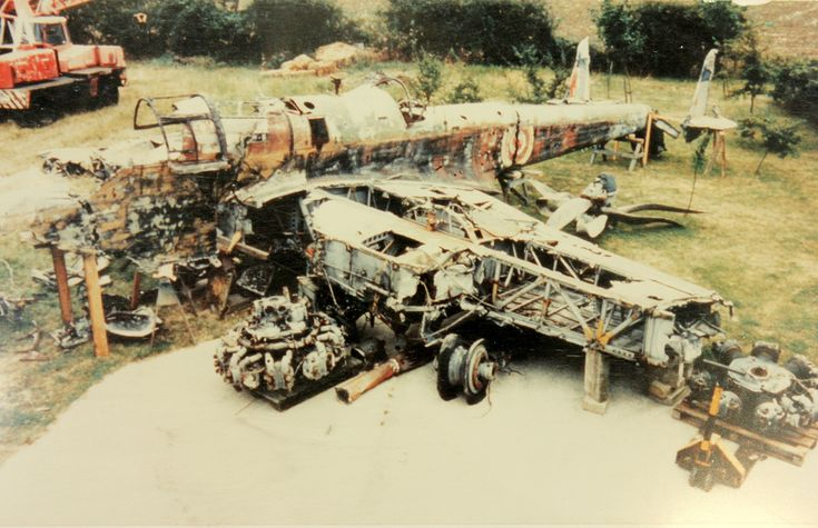 P1344 as she looked when laid out by Jeet Mahal for inspection by the RAF Museum in 1992. (photo via RAF Museum)