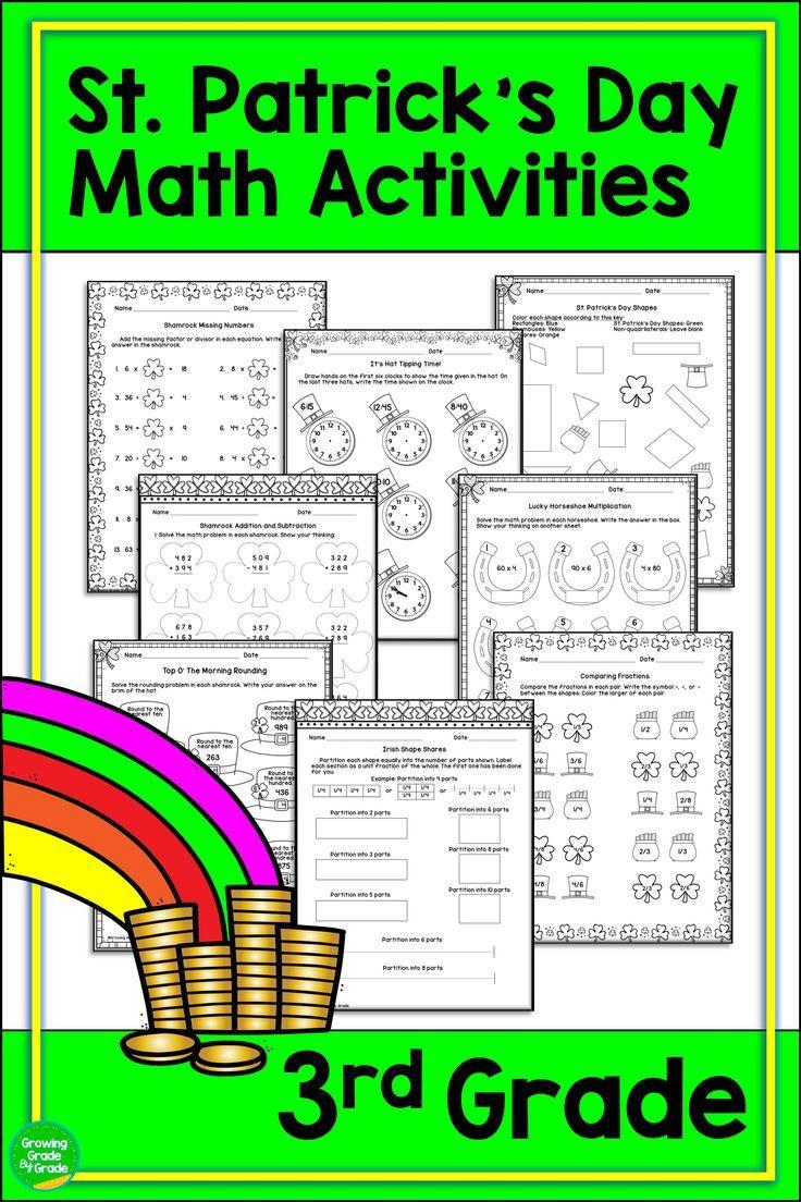 St. Patrick's Day Math Activities 3rd Grade   Third grade ...