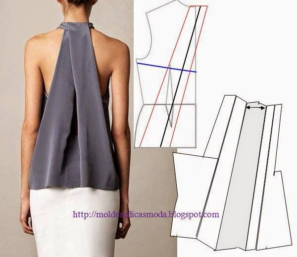 DIY Top with Draped Back - FREE Sewing Pattern Draft