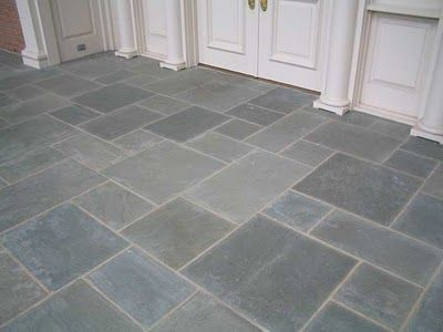 basement floor option - bluestone pavers