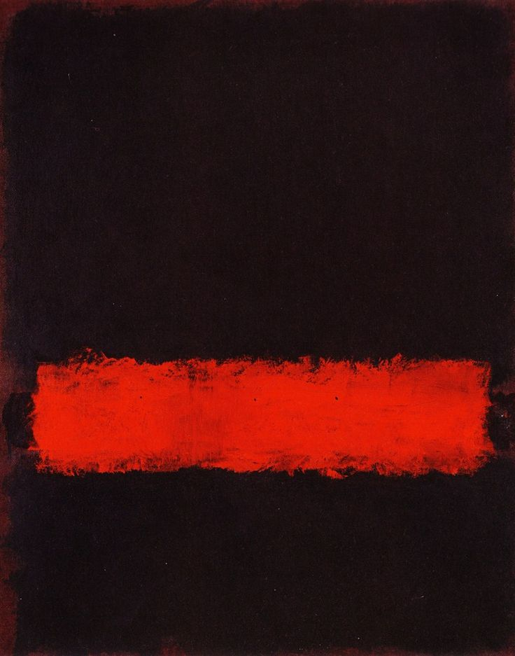 This is one of Mark Rothko paintings, he is a famous abstract expressionism artist. Description from pinterest.com. I searched for this on bing.com/images