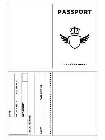Printable Passport Template Kids