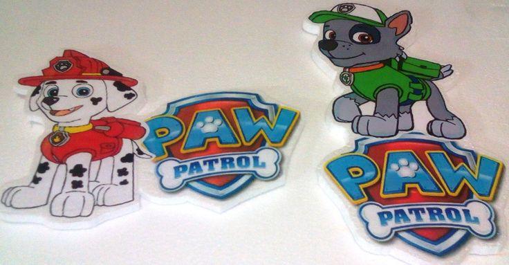 Paw Patrol apliques para  pegar en  la pared
