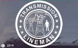 "Transmssion Lineman Window Decal - Sticker. $6.95 for the 6"" decal. Larger sizes available.http://www.etgiftstore.com/transmission-decal-detail.htm"