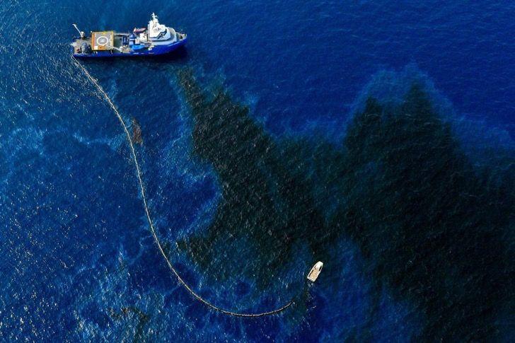 Un gigantesco derrame de petróleo de Shell invadió al golfo de México