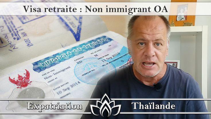 """Informations, conseils et astuces pour l'obtention ou le renouvellement du visa non immigrant OA plus connu sous l'appellation visa retraite en Thaïlande. Cliquez sur """"Visiter"""" afin de découvrir ce tutoriel vidéo gratuit."""