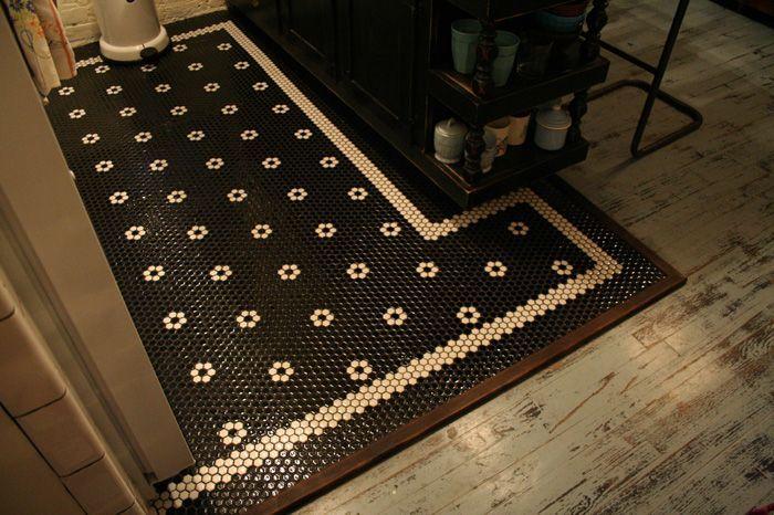 Black Hex Bathroom Floor Tiles : Hex tile kitchen floor black bathroom