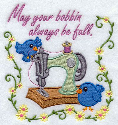 If only I could have a bobbin that never ran out...