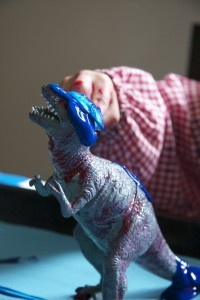 painting dinosaurs - quite literally.