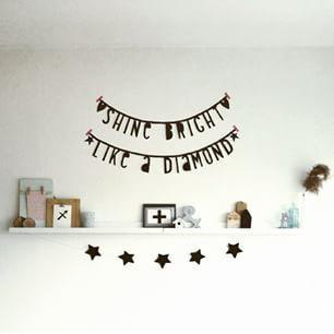 #Wordbanner #tip: Shine bright like a diamond - Buy it at www.vanmariel.nl - € 11,95