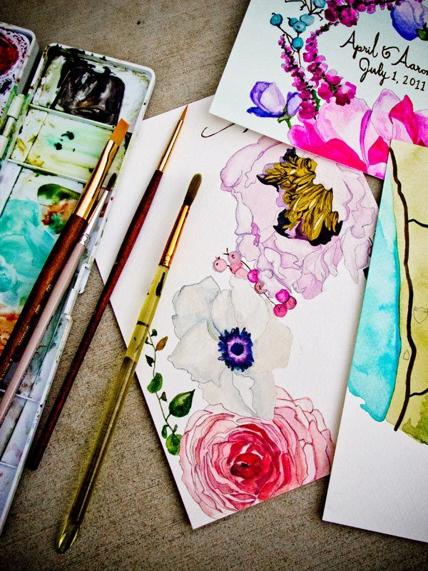 Love these watercolor flowers, don't know where the link leads just love the picture