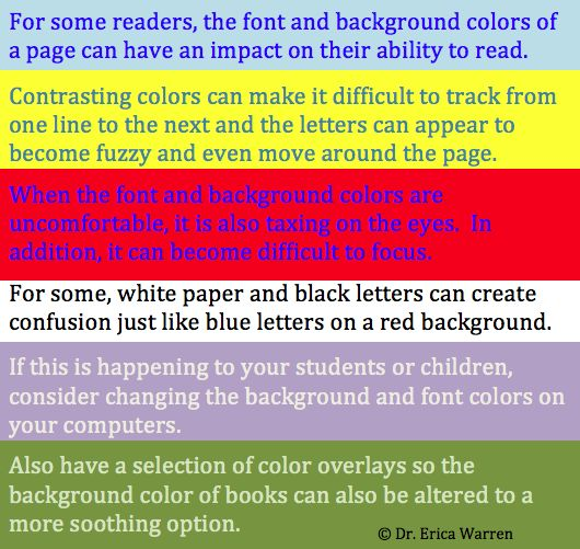 dyslexia reading on colored paper The evolution of research on dyslexia a more complete version of this paper has been published in spanish the current denomination of dyslexia as reading disability.