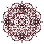Mehndi, indio Henna marrón tatuaje patrón o fondo — Ilustración de stock #98725770