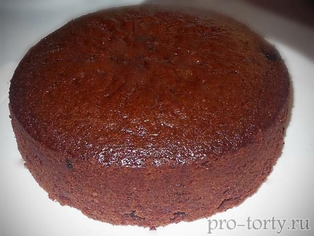 самый простой шоколадный бисквит фото