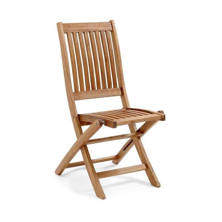Everton fällstol i oljad hardwood akacia. En hopfällbar stabil stol som gärna kombineras med våra mindre bord och matbord i samma serie. Rostfria skruvar o