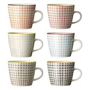 Tasses à café en porcelaine (par 6) Pattern Bloomingville