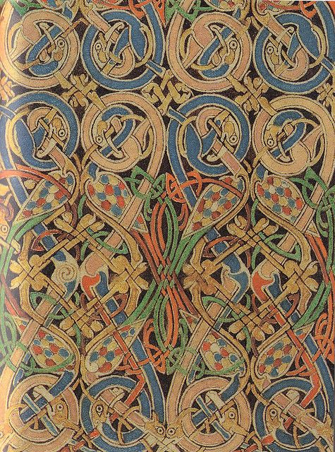 Lindisfarne Gospels-St Matthew carpet page detail | Flickr - Photo Sharing!