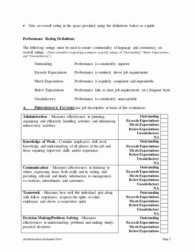 Performance Goals And Expectations Examples Army Elegant Lead Software Engineer Performance Performance Appraisal Employee Evaluation Form Evaluation Employee
