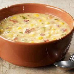 Panera's Summer Corn Chowder Copycat recipe (except substitute poblano for green pepper)
