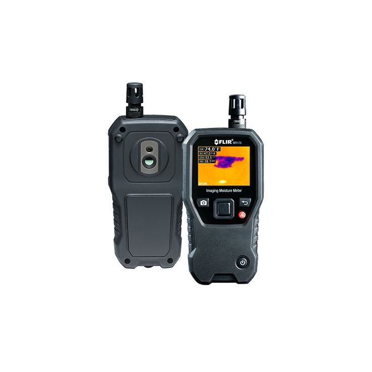Wilgotnościomierz termowizyjny FLIR MR176 z technologią IGM™ to uniwersalne narzędzie z wbudowaną kamerą termowizyjną, która dokładnie wskazuje, gdzie