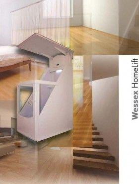 Homelift - Ascenseur monte escalier DIJON  Notre ascenseur homelift pour fauteuil roulant requiert un espace très réduit...  Plus besoin de gaine ou de structure autour de la cabine! Le mini ascenseur homelift relève d'une technologie avancée qui fait de lui le mini ascenseur privatif de demain.