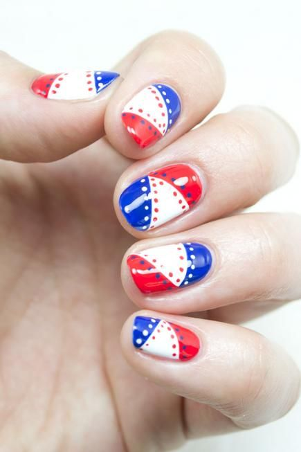 July 4th is the one day a year where even the most uptight fashionistas dress in holiday stars and stripes. On everything from flip- flops to T-shirts, reds, whites and blues reign supreme. Pretty patriotic nails are the definition of Independence Day style, so click through our 'Merica-themed manis for some USA-inspired art for your 4th of July nails.