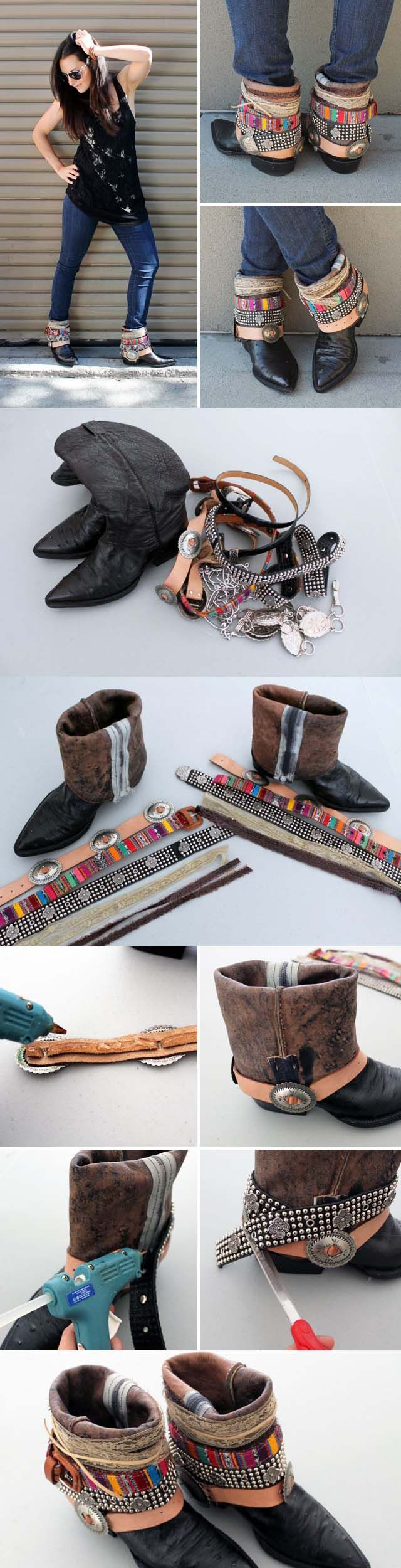 DIY Bohemian Boots|Add a Little Flair to Old Boots! Yessssss please :)