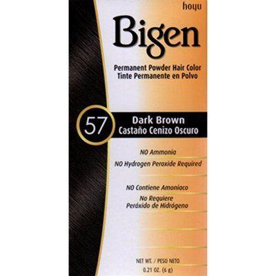 Bigen Powder Hair Color -57 Dark Brown -- Click image to review more details.