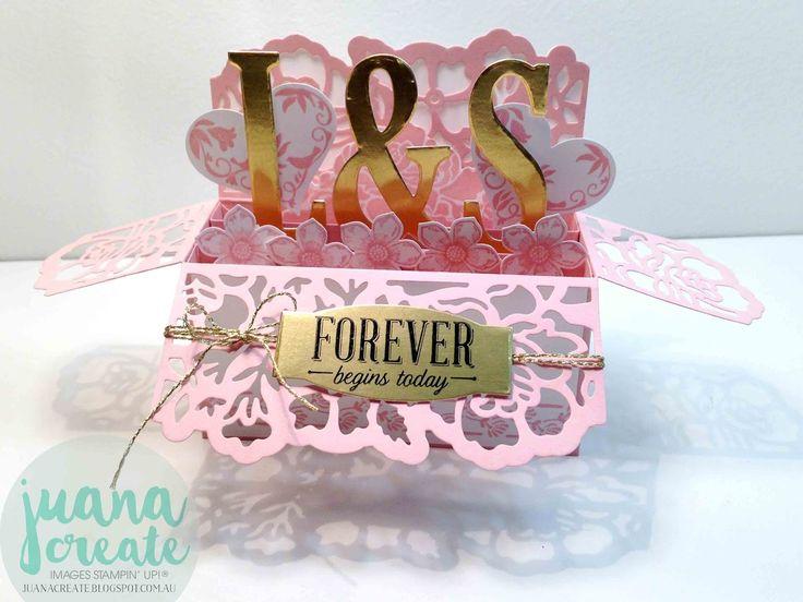 Juana Ambida  - Floral Phrases Wedding Card in a box. #FloralPhrases…