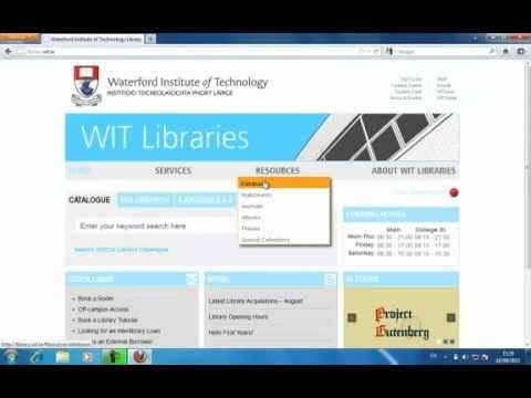 Off campus access to WIT Library services