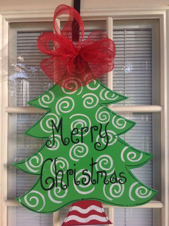 Christmas tress door hanger by samthecrafter on Etsy