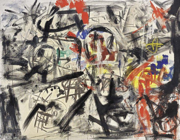 Emilio Vedova - Documento V, 1958. Oil on canvas