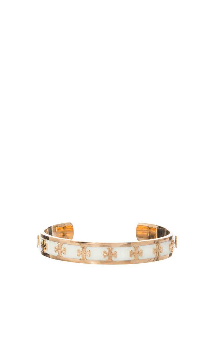 Armband Enamel Raised Logo Cuff CREME/GOLD - Tory Burch - Designers - Raglady