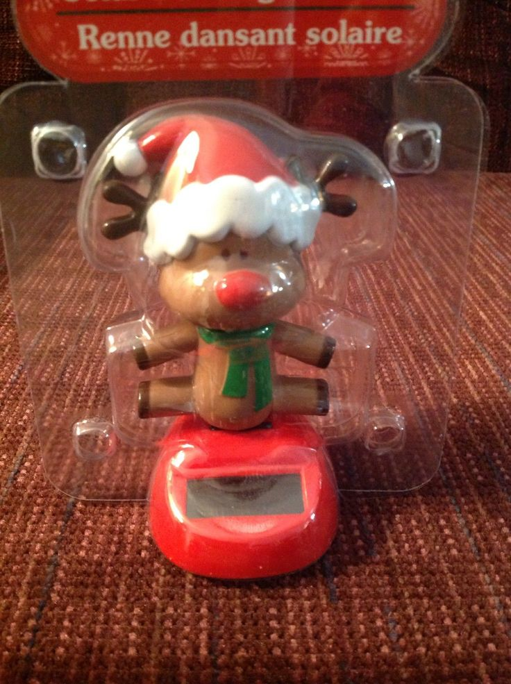 Christmas Solar Rudolph Red Nosed Reindeer Wiggles Sun Powered