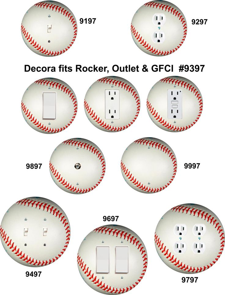 1000 Images About Baseball Shaped Wall Plates Switch