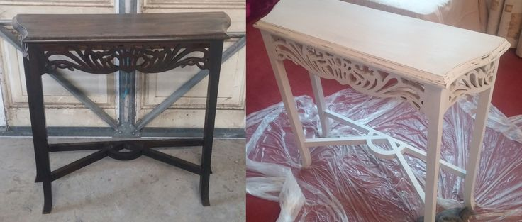 First attempt at 'shabby chic' - more sanding/waxing work to be done but will be a great piece when complete!
