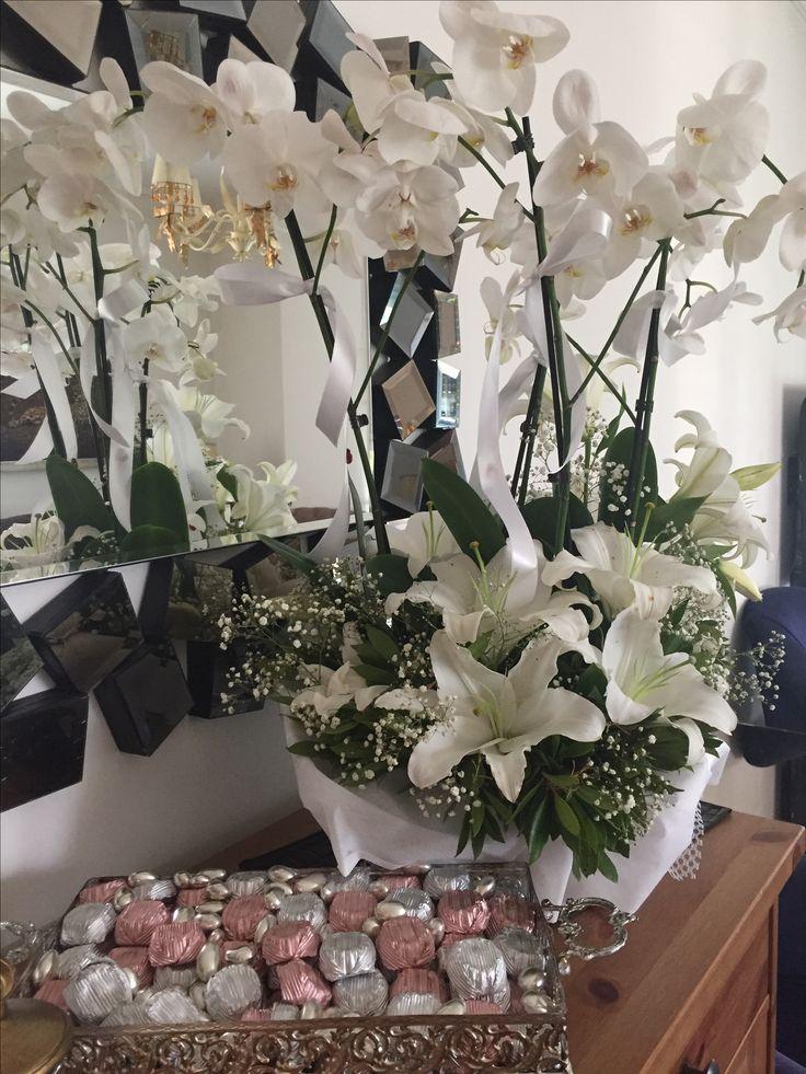 İsteme çiçeği #orkide #lilyum #istemeçiçeği #söz #nişan