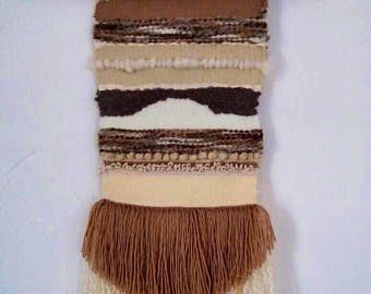 Handmade woven wall hanging Driftwood BRIGANTI wood