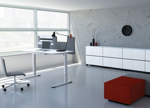 JAZZ sit-stand desks by Strand + Hvass   Designed in Denmark, made in Lithuania   Narbutas