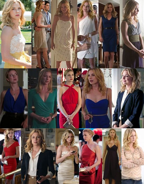Revenge Style - Emily Thorne. If I didn't love the story line, I would watch it just for the clothes.