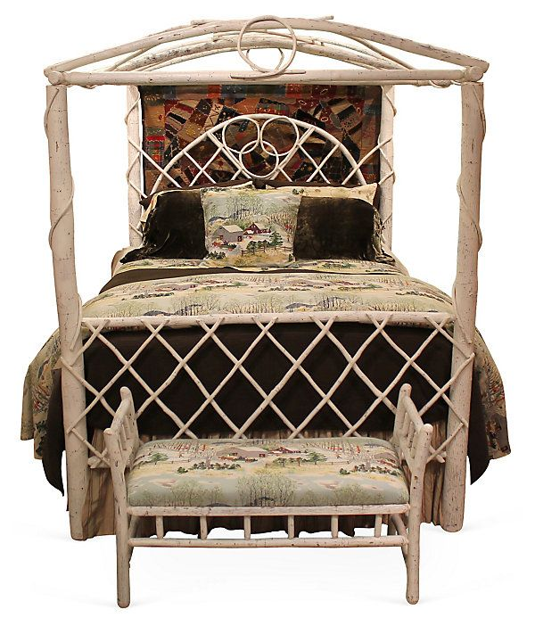 One Kings Lane - Rooted in Tradition - Rustic Canopy Bed, Queen