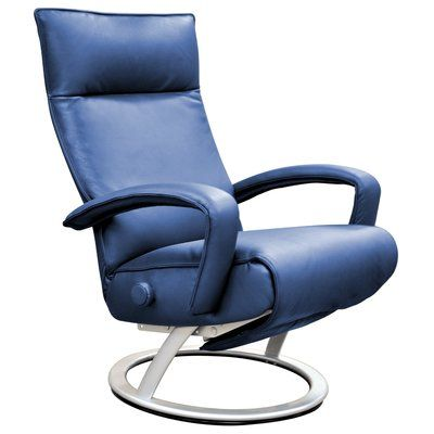 Best Lafer Gaga Leather Manual Swivel Recliner Upholstery 640 x 480