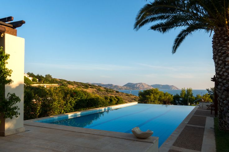 Nestled in a quiet private community, overlooking the area of #Anavissos, Villa Nefeli is just a short distance from the #beach.