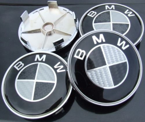 BMW f�lg emblem i koliber (Centrumk�por) 68mm