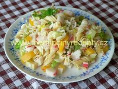 7 Těstovinový salát bez majonézy (jogurtu)