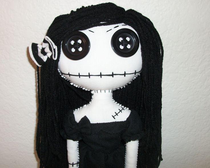 Baby Gothic Rag Doll. $50.00, via Etsy.